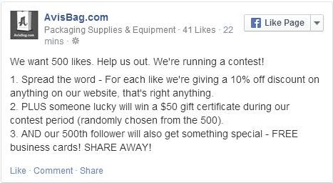 Our Facebook Like Contest
